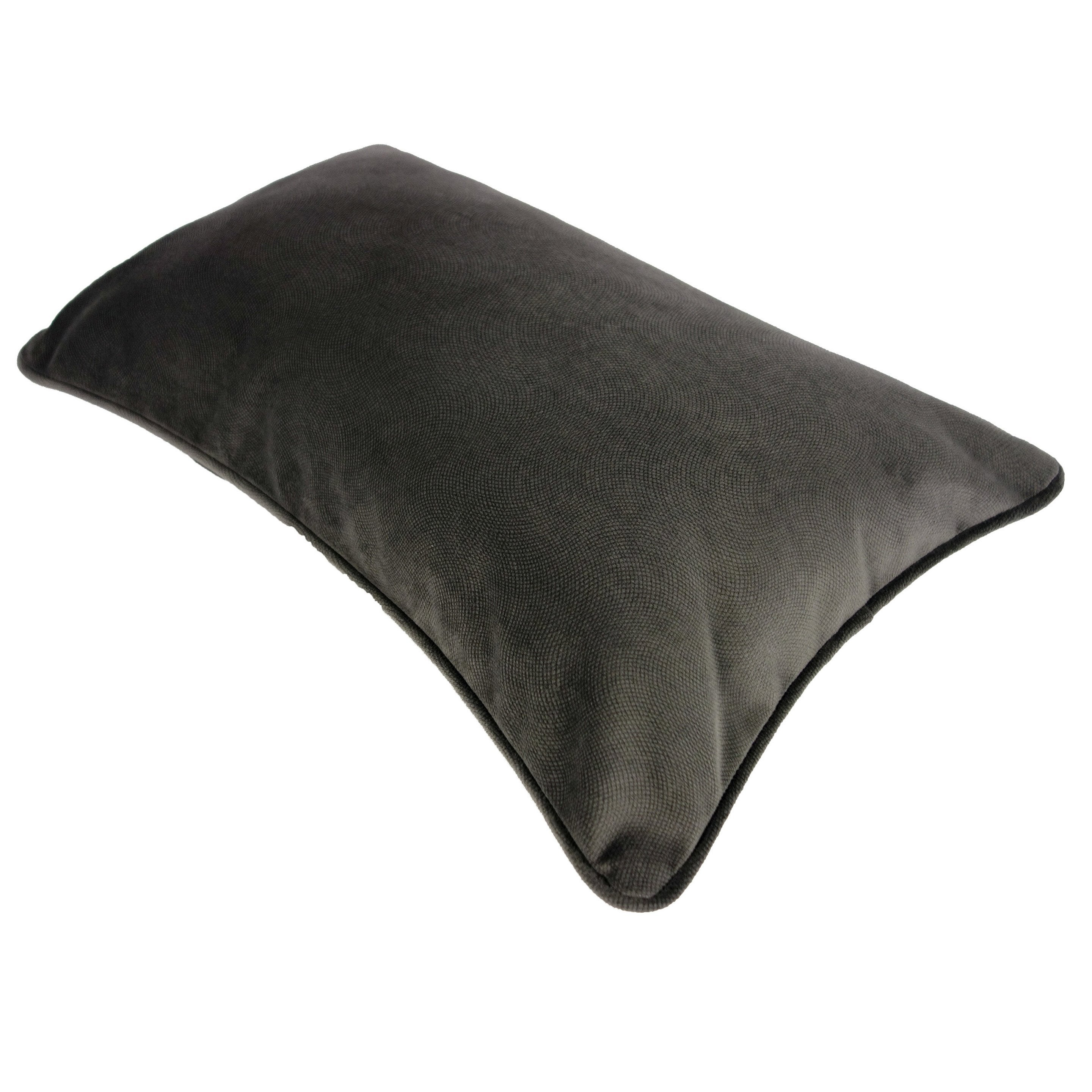 Coussin Cambridge, gris l.50 x H.30 cm