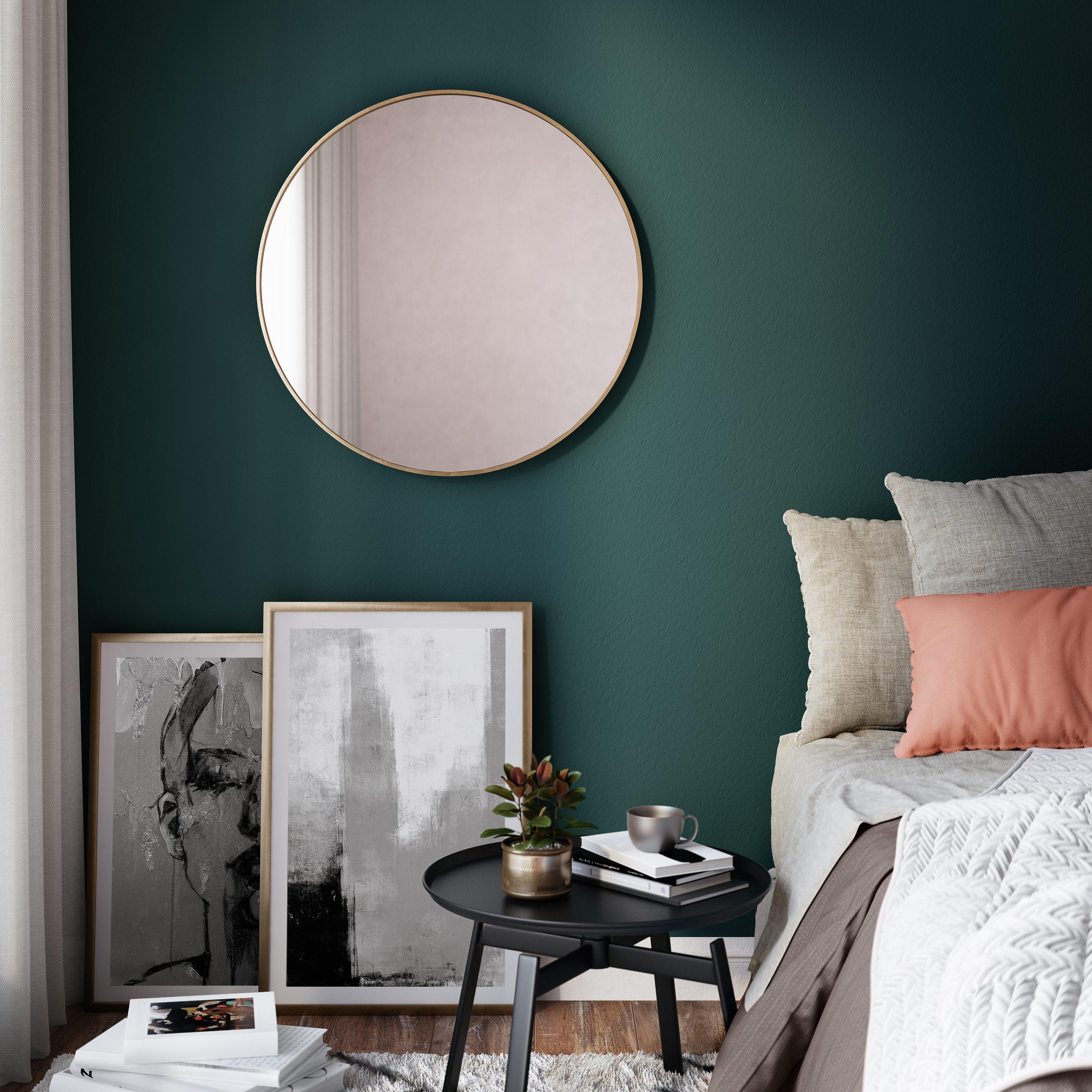 Miroir rond Glam, dorée diam.60 cm