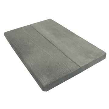 margelle alpge en pierre reconstitue gris l50 x l35 x ep