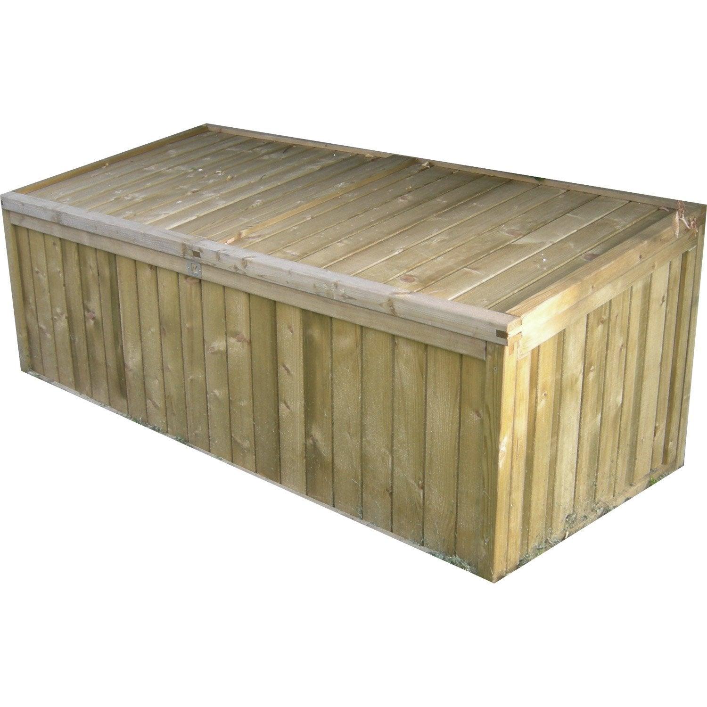 Coffre de jardin bois naturelle, l.8 x H.8 x P.8 cm | Leroy Merlin