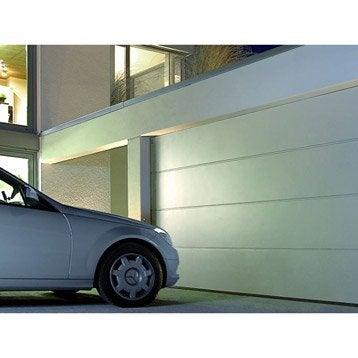 Porte de garage sectionnelle motorisée HORMANN H.200 x l.240 cm