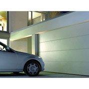 Porte de garage sectionelle HORMANN, rainurée, acier blanc rainurée, 200 x 237cm