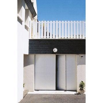 Porte de garage à la française Sans hublot ARTENS H.200 x l.240 cm