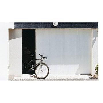 Porte de garage coulissante Portillon droit ARTENS H.212 x l.240 cm