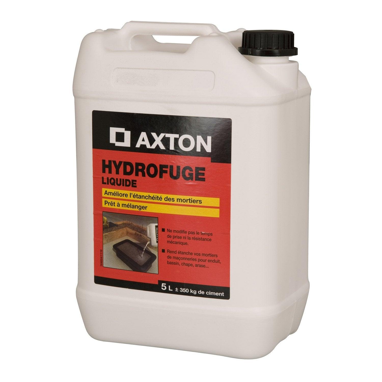 merveilleux Hydrofuge pour mortier AXTON 5 l blanc