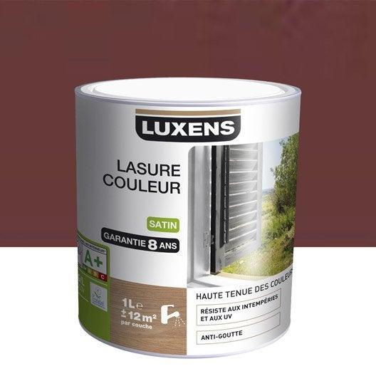 lasure luxens 1 l rouge basque leroy merlin. Black Bedroom Furniture Sets. Home Design Ideas