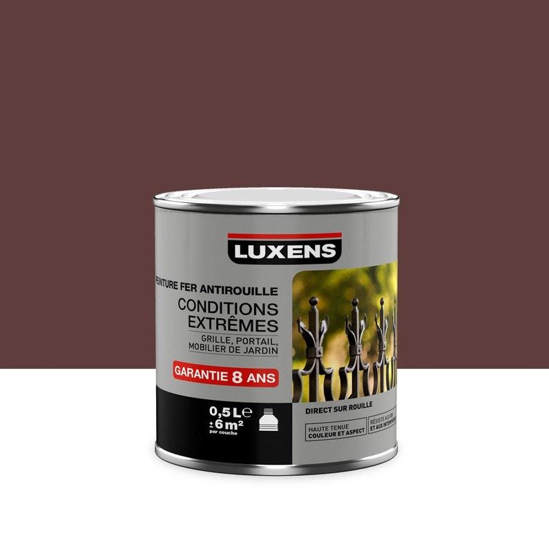 Peinture Fer Extérieur Antirouille Luxens Rouge Basque 05 L