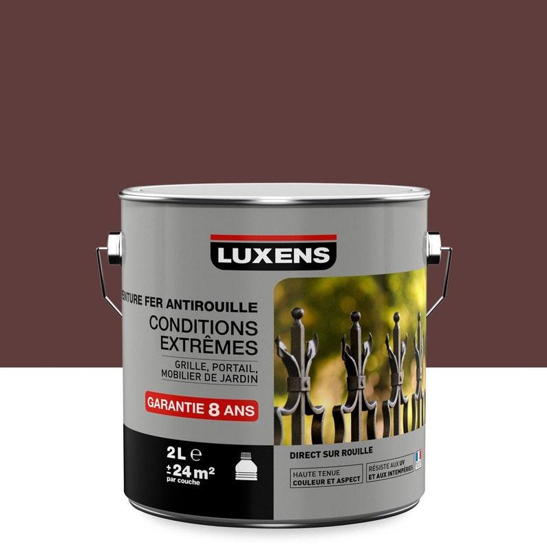 Peinture Fer Extérieur Antirouille Luxens Rouge Basque 2 L Leroy