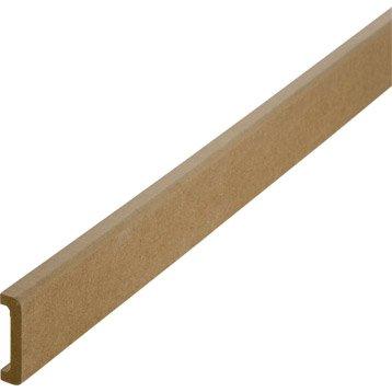 Nez de cloison médium (MDF) pour cloison de 50 mm , 11 x 53 mm, L. 2.5 m