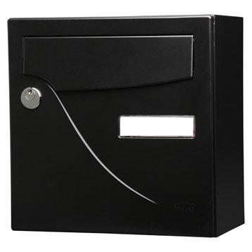 Boîte aux lettres compacte 1 porte RENZ Essentiel, acier noir