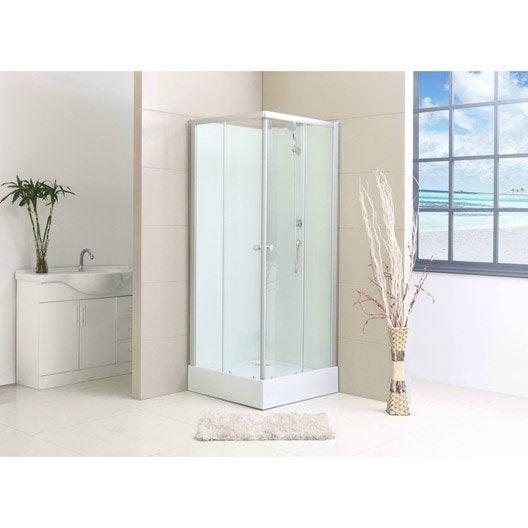 Cabine de douche salle de bains au meilleur prix leroy for Paroi douche 80x80 leroy merlin