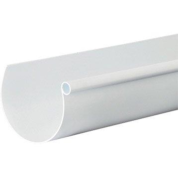 Gouttière demi-ronde PVC GIRPI dév.25 cm blanche L.4 m