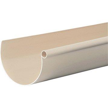 Gouttière demi-ronde PVC GIRPI dév.25 cm sable L.2 m
