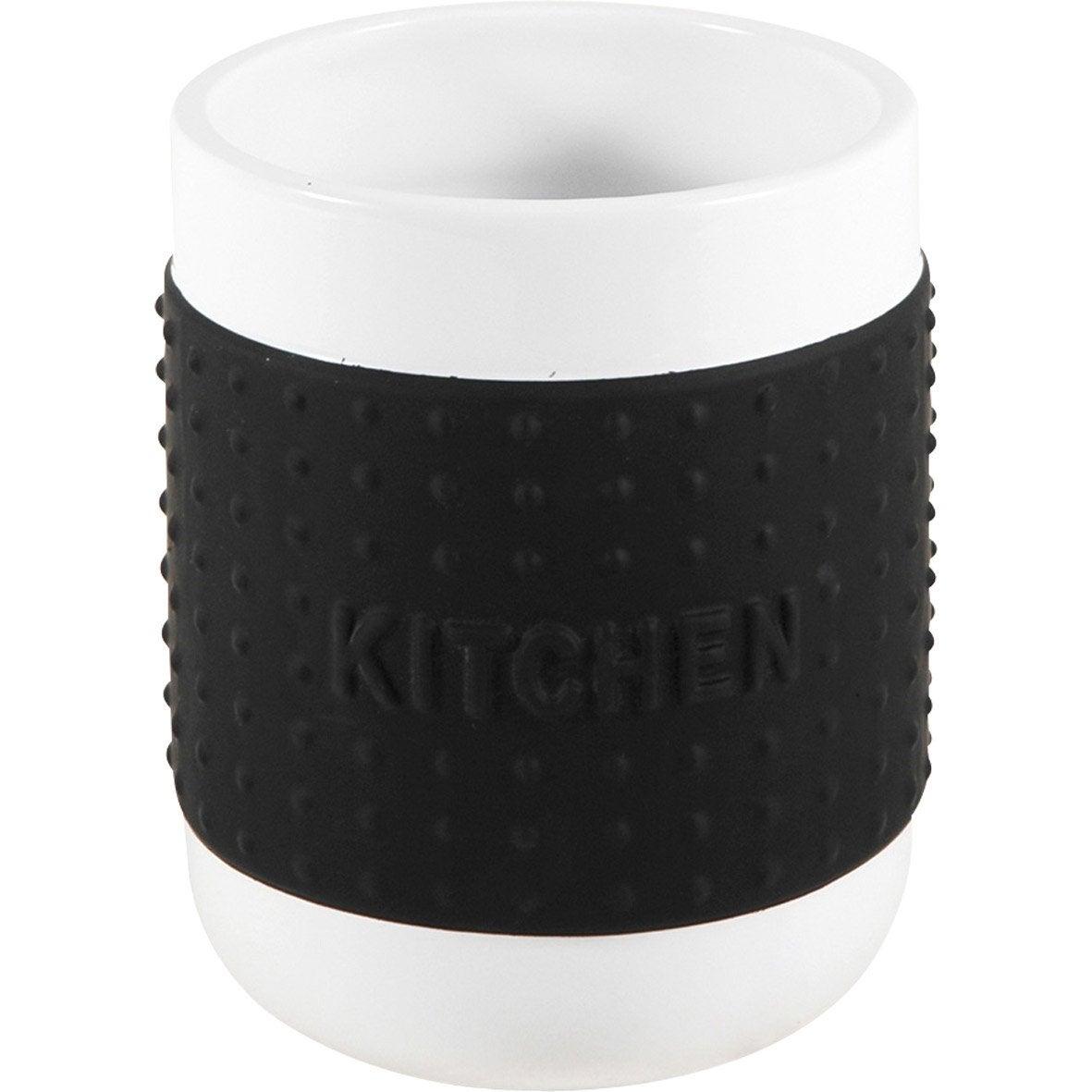 Pot range-couverts céramique noir-noir n°0