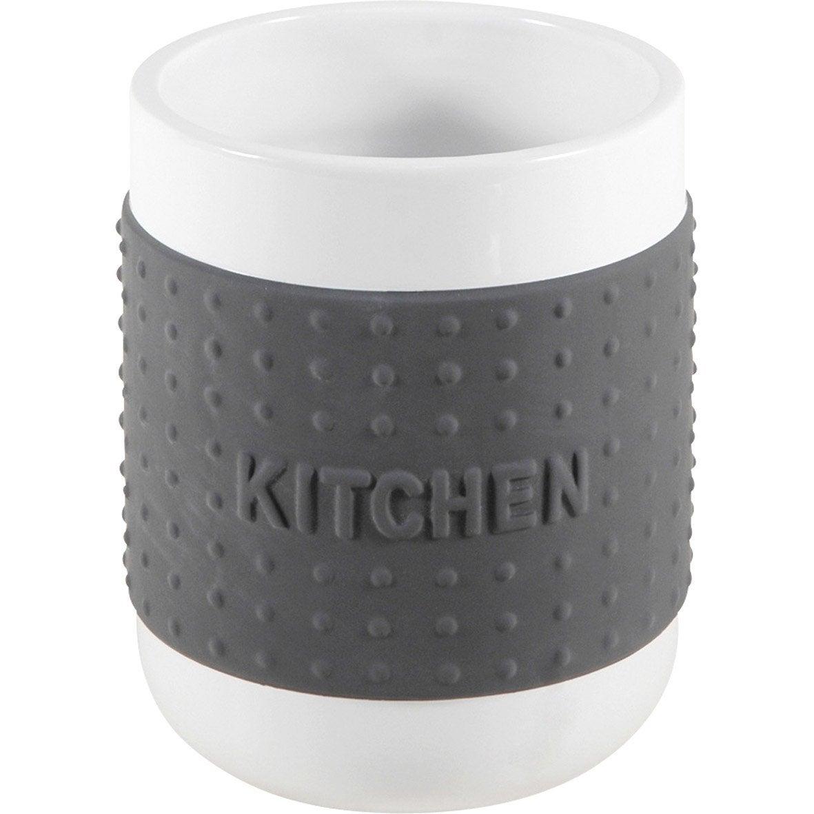 Pot range-couverts céramique gris-gris n°1