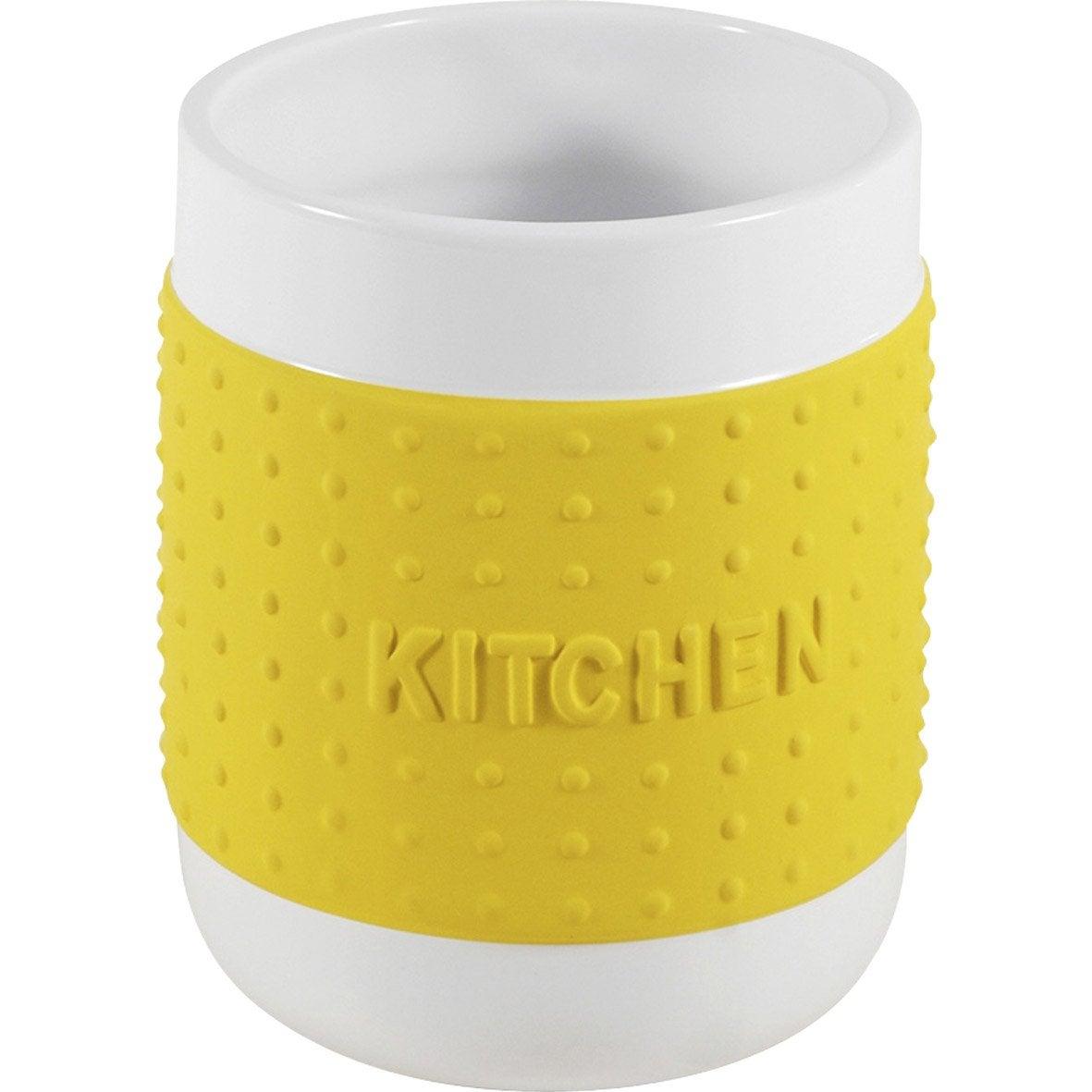 Pot range-couverts céramique jaune anis n°4