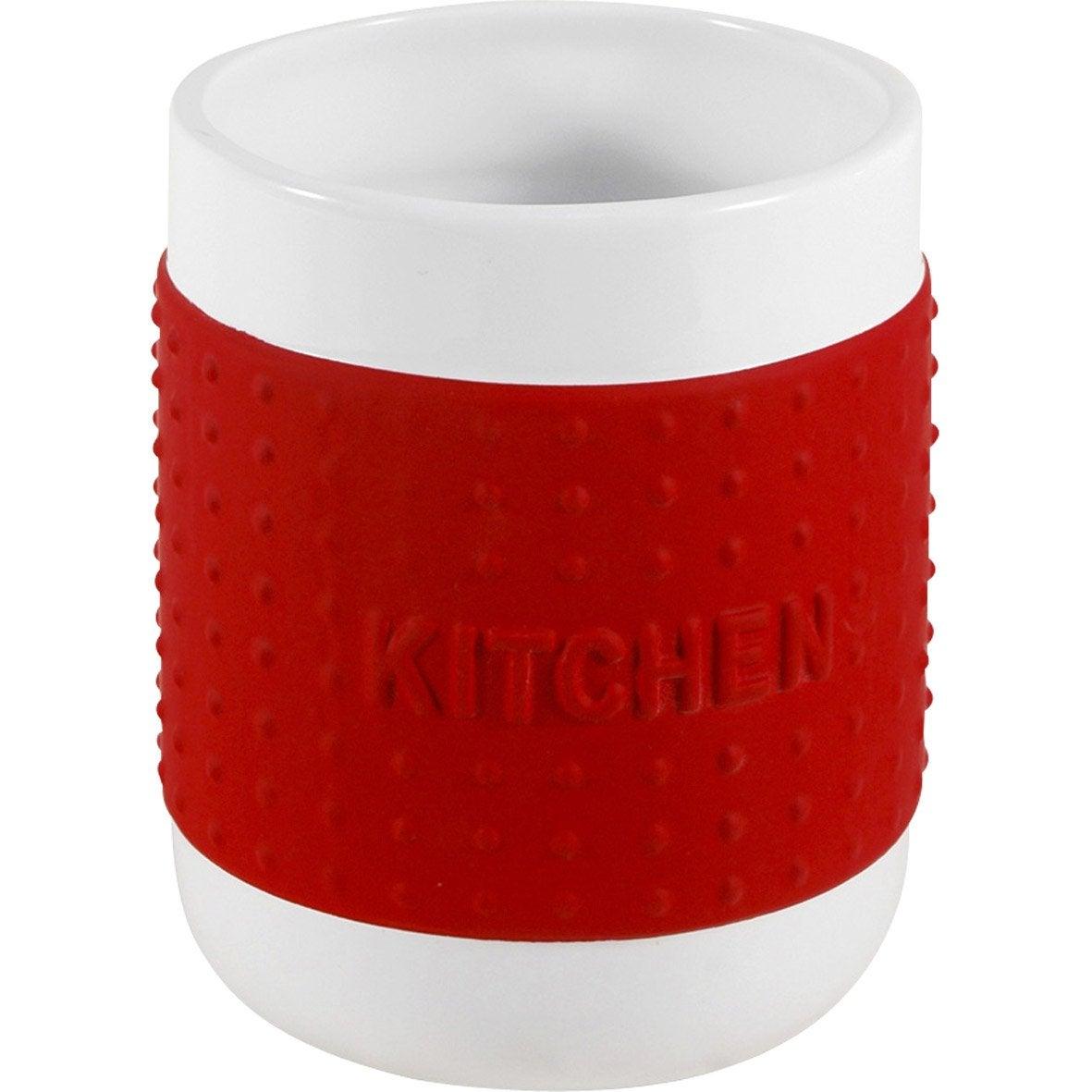 Pot range-couverts céramique rouge-rouge n°3