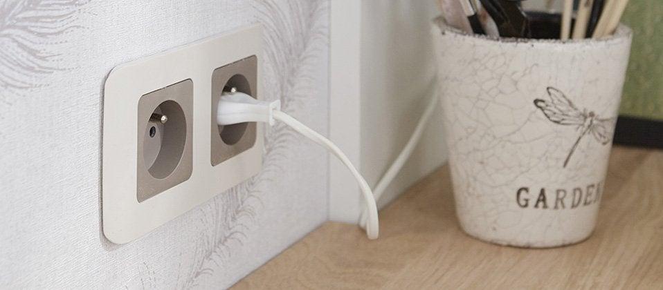 interrupteur et prise encastrable composable composer. Black Bedroom Furniture Sets. Home Design Ideas