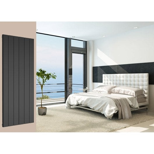 radiateur chauffage central leggero noir sabl cm 1898 w leroy merlin. Black Bedroom Furniture Sets. Home Design Ideas