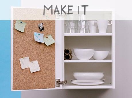 Diy ajouter un panneau en li ge une armoire de cuisine leroy merlin - Panneau en liege ...