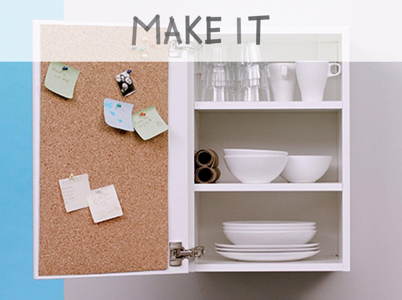 DIY : Ajouter un panneau en liège à une armoire de cuisine