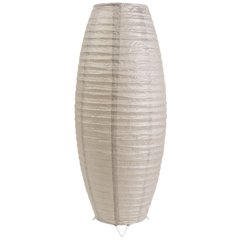 Lampe e27 anjo inspire papier gris leroy merlin - Lampe en papier ...