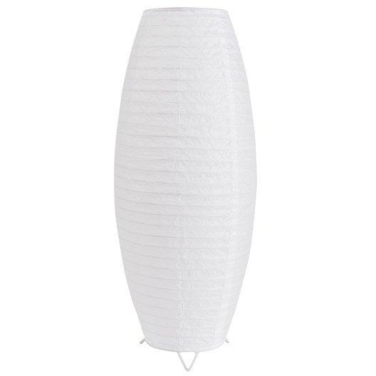 Lampe anjo inspire papier blanc leroy merlin - Lampe papier de riz ...