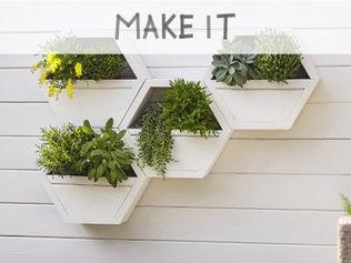DIY : Réaliser une jardinière murale