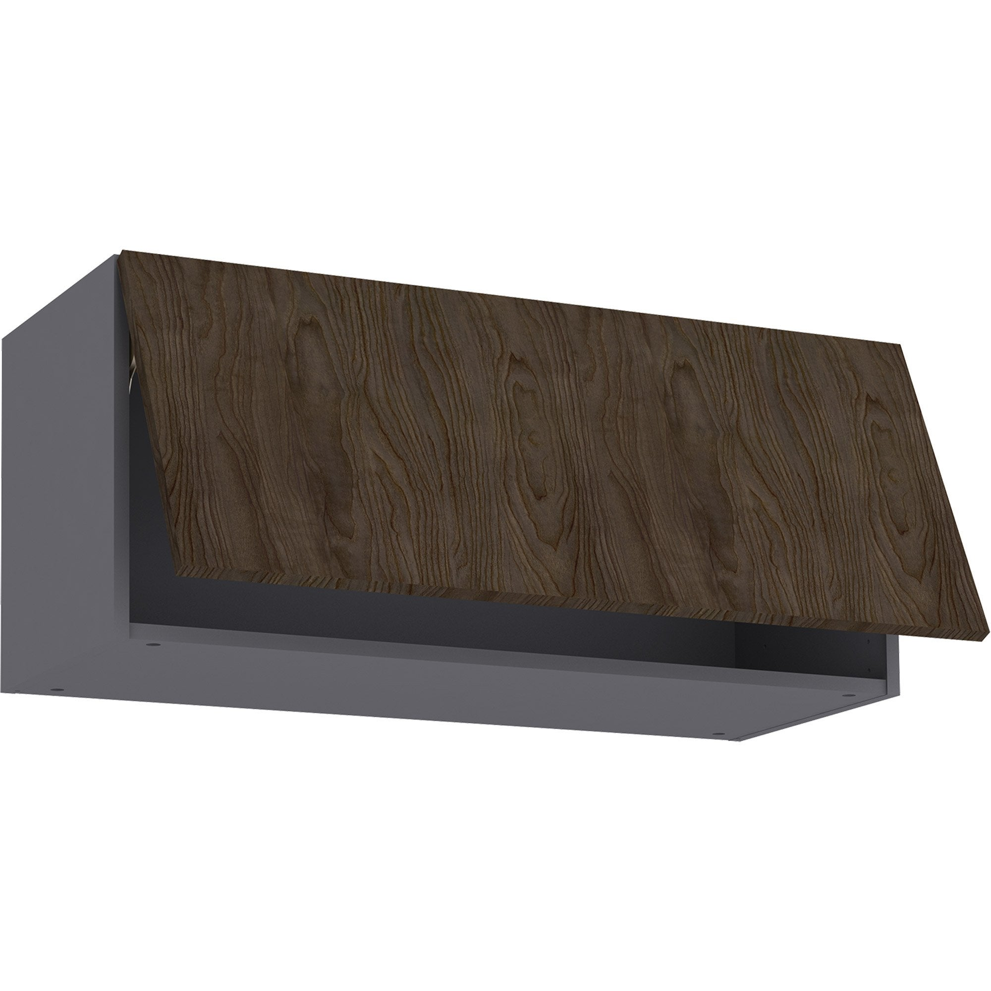 Meuble haut de cuisine Siena effet bois foncé, 15 porte H15xl15