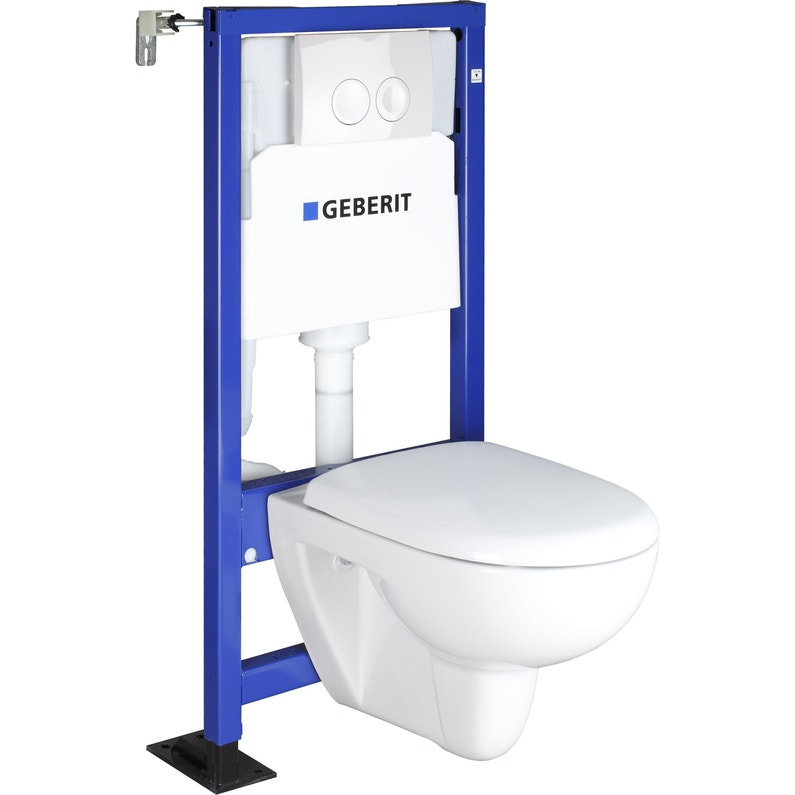 Pack Wc Suspendu Bâti Universel Double Symbiose Rimfree Geberit