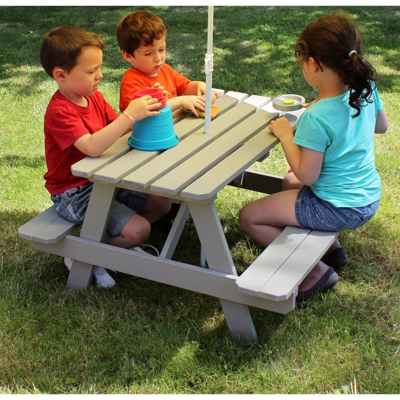 Remarquable Table de pique-nique pour enfants SOULET rectangulaire 4 personnes MZ-29