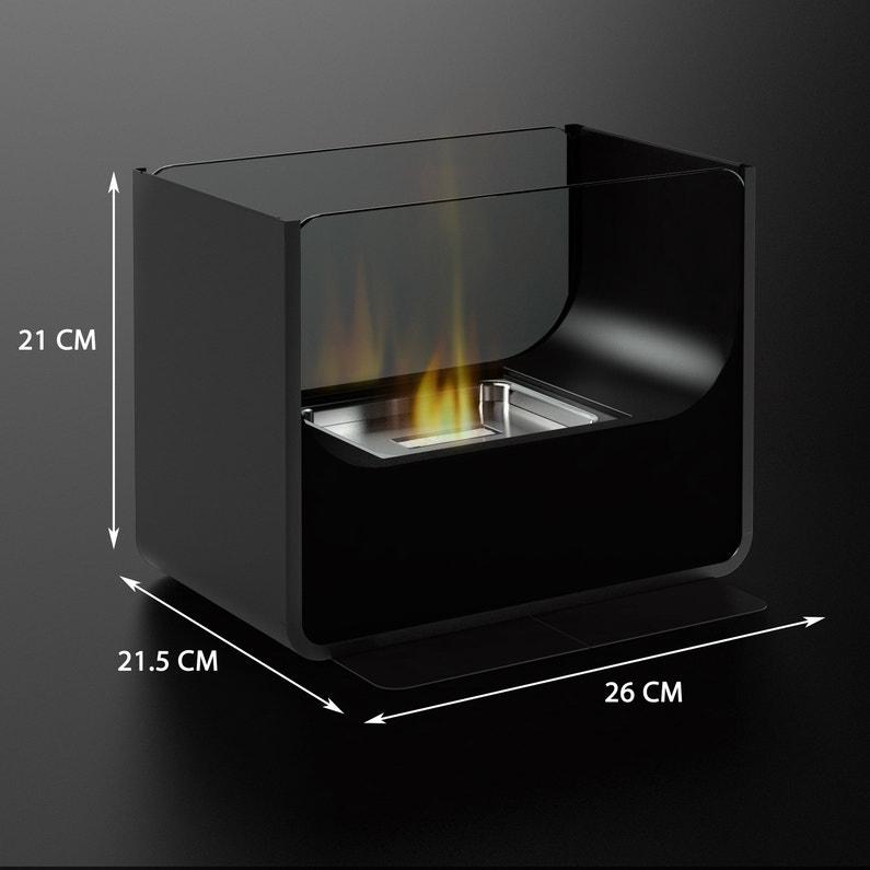 Cheminée Mobile Firefriend Au Bio éthanol Noir