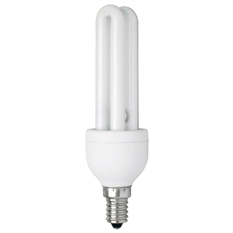 ampoule tube fluorescente 13w 664lm quiv 55w e14 2700k leroy merlin. Black Bedroom Furniture Sets. Home Design Ideas