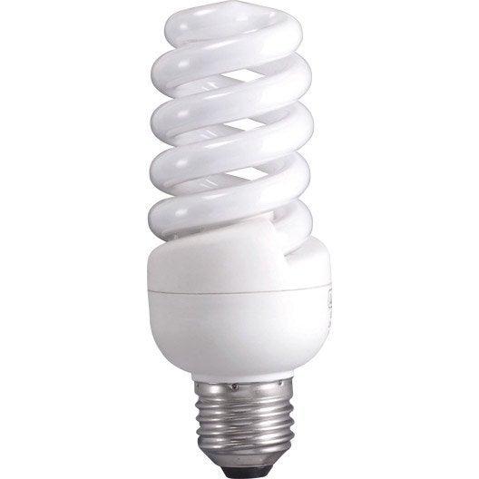 Ampoule spirale fluorescente 15w 970lm quiv 75w e27 - Ampoule lumiere du jour leroy merlin ...