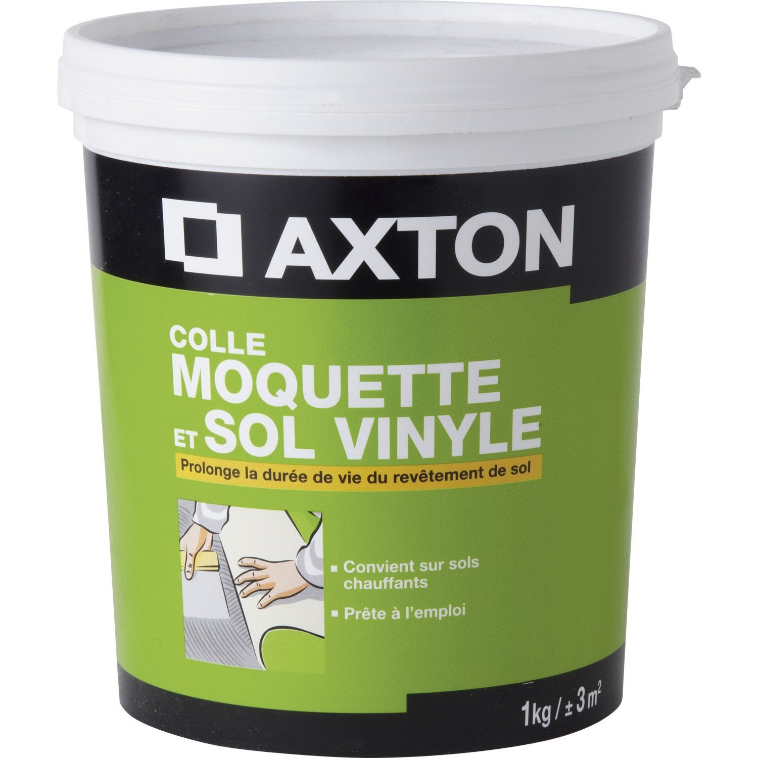 Colle sol souple 1 kg axton leroy merlin for Sol pvc sans colle