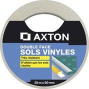 Rouleau adhésif double face sol pvc, l.50 mm x L.25 m AXTON