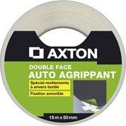 Rouleau adhésif double face sol souple, l.50 mm x L.15 m AXTON