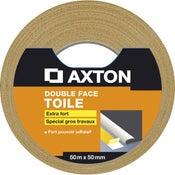 Rouleau adhésif double face sol souple, l.50 mm x L.50 m AXTON
