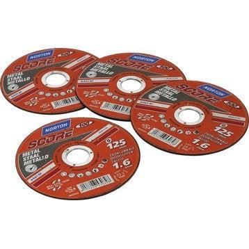 Lot 4+1 disques pour matériaux de construction NORTON, Diam.125 mm
