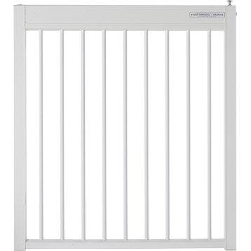 Portillon pour piscine aluminium Issambres blanc 9010, H.120 x l.107 cm