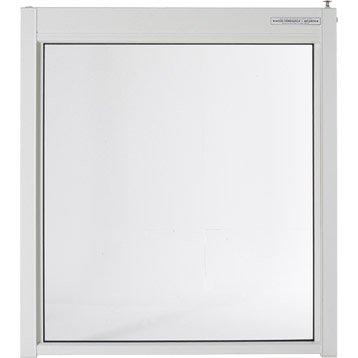 Portillon pour piscine aluminium Esterel blanc 9010, H.120 x l.107 cm
