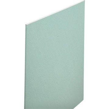 Plaque de plâtre Hydro NF H1 2.6  x 1.2 m, BA13, entraxe 60 cm
