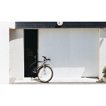 Porte de garage coulissante Portillon droit ARTENS H.212 x l.300 cm