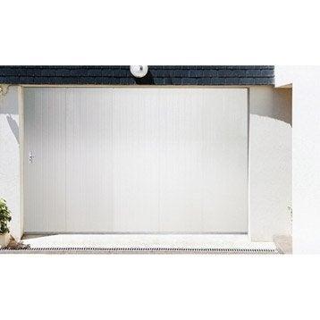 Porte de garage coulissante Portillon droit ARTENS H.200 x l.240 cm
