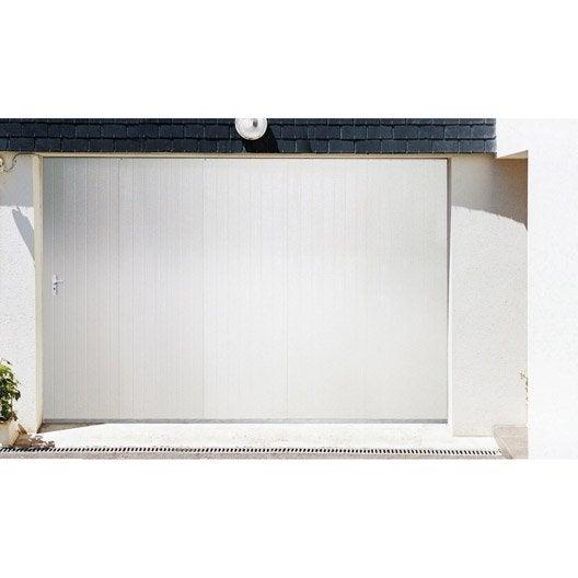 porte de garage coulissante portillon droit artens x cm leroy merlin. Black Bedroom Furniture Sets. Home Design Ideas