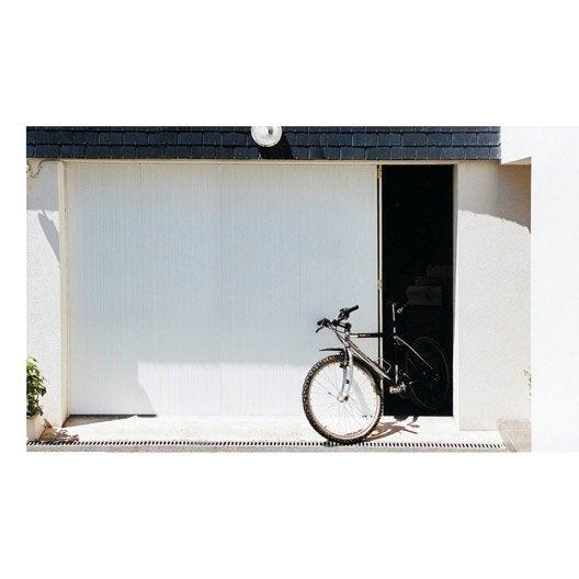 porte de garage coulissante portillon gauche artens x cm leroy merlin. Black Bedroom Furniture Sets. Home Design Ideas