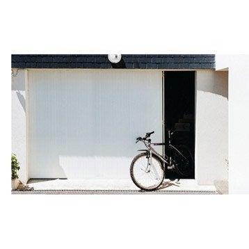 Porte de garage coulissante Portillon gauche ARTENS H.200 x l.300 cm