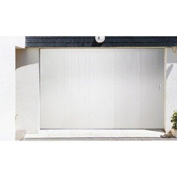 Porte de garage coulissante Portillon gauche ARTENS H.200 x l.240 cm
