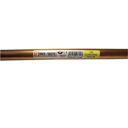 tube d 39 alimentation cuivre croui x 16 mm en barre de 4 m leroy merlin. Black Bedroom Furniture Sets. Home Design Ideas
