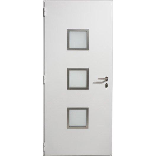 Porte d 39 entr e aluminium seattle artens poussant gauche h for Porte d entree 80 cm